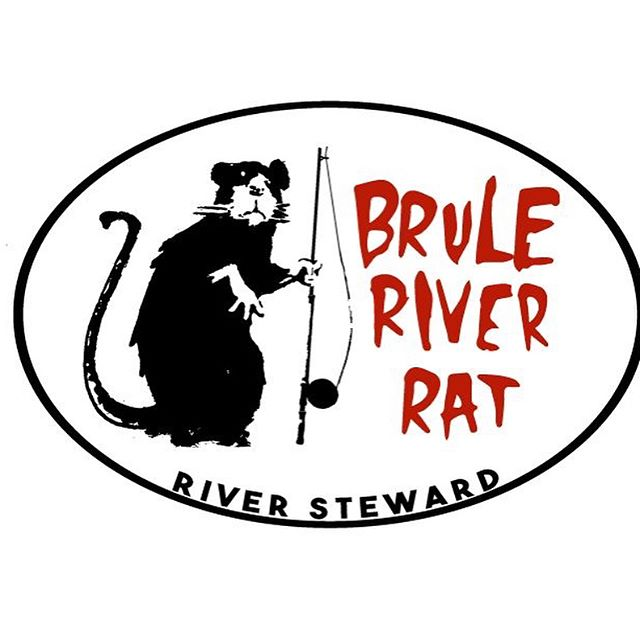 Get your Brule River Rat sticker in the shop.  A $10 donation gets you the sticker and gets the South Shore grade culvert project on the Brule closer to being finished.