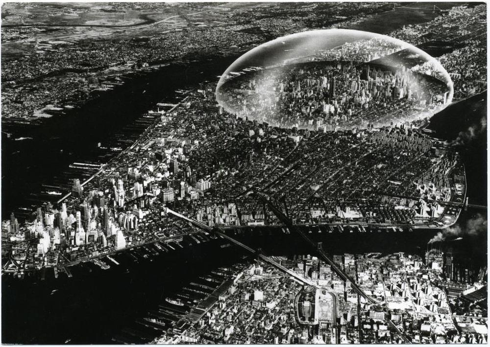 Dome over Manhattan, Bucky Fuller, 1960.