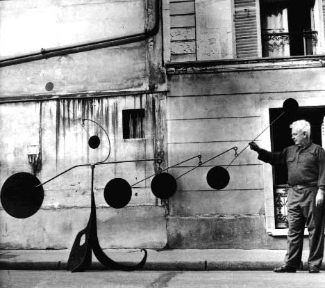 1.23_calder with myxomatose 1953 -A08122- Paris. Photograph by Agnes Varda 1954.jpg