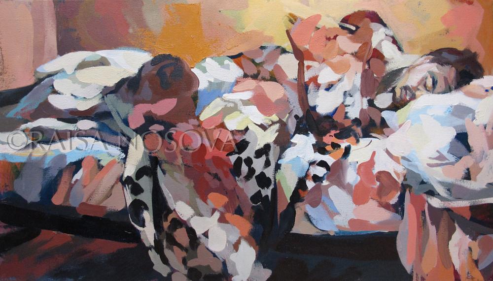 "17"" x 30"" oil on canvas 2012-2014"