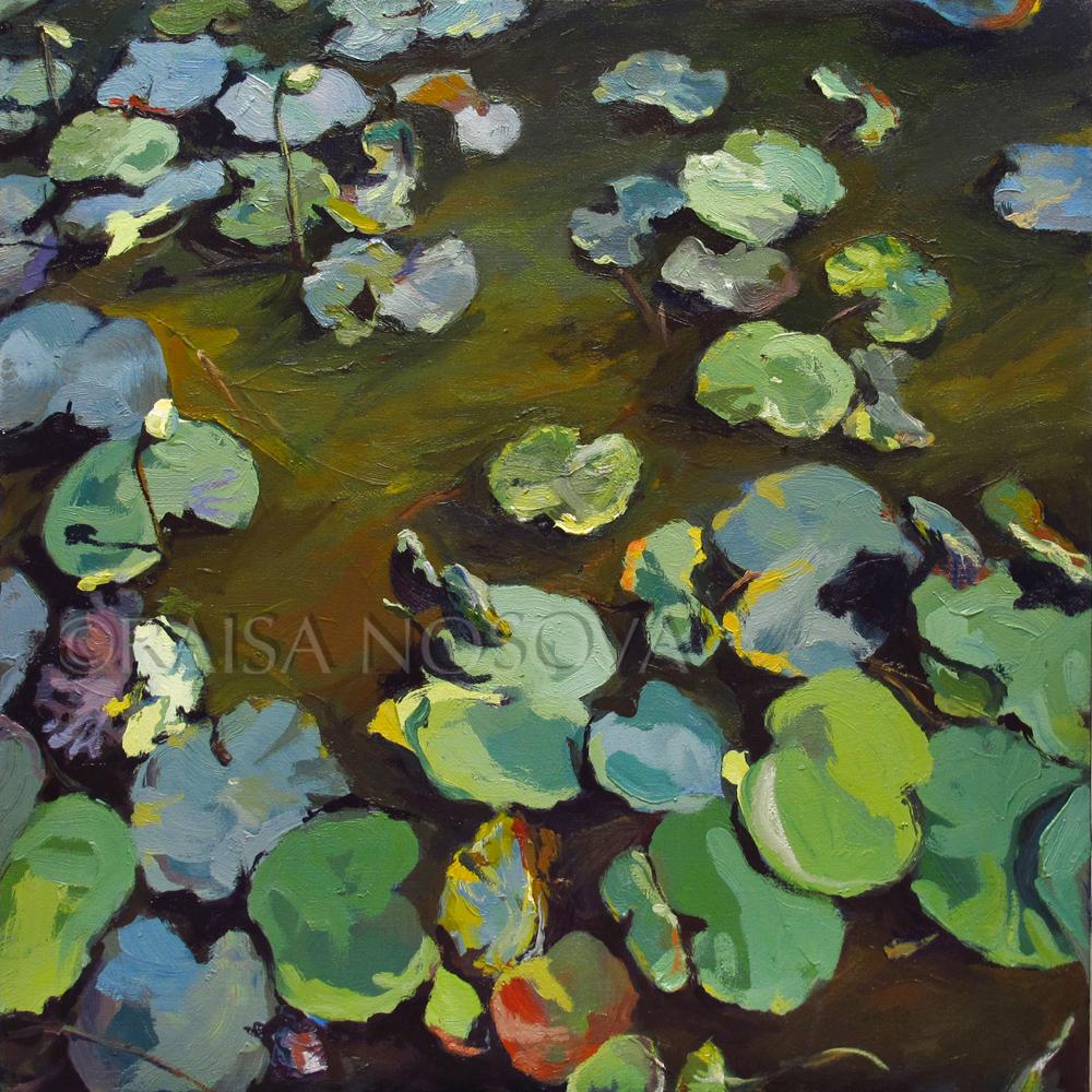 "oil on canvas, 26""x26"""
