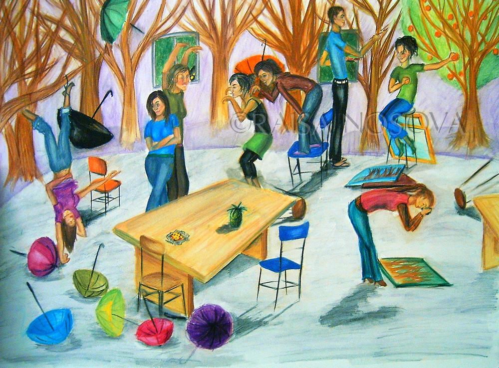 1. My portfolio class-watercolor on illustration board. 2006