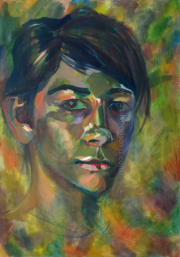 Self Portrait at 19, green