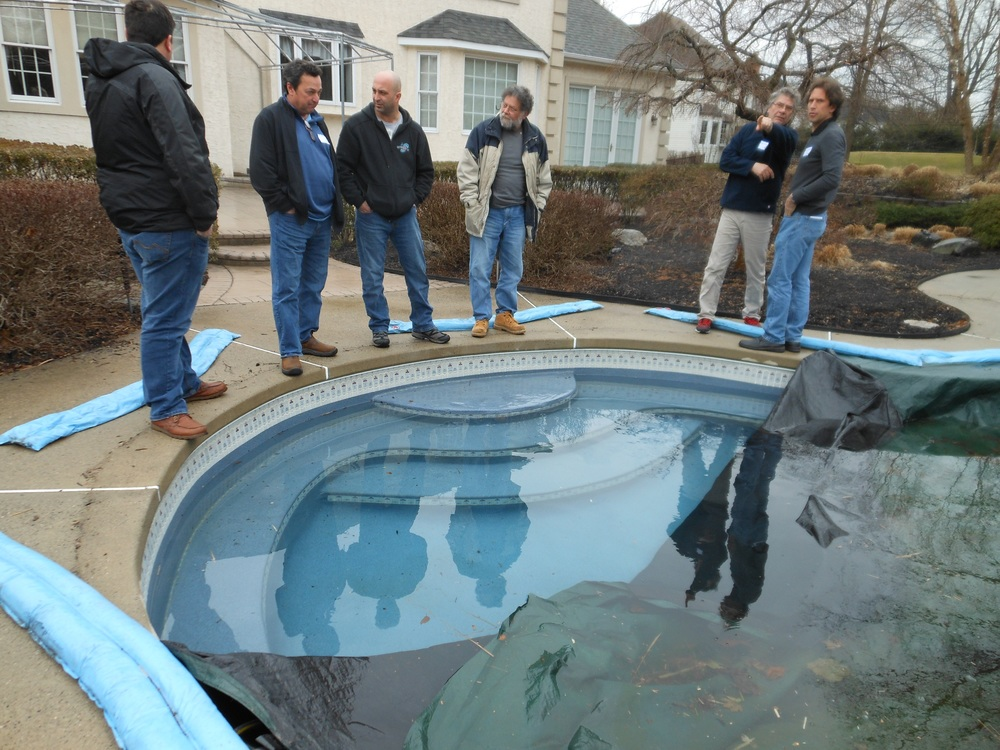 Sheldon Unreiner Ultimate Spas. February in Warminster PA at ecoFinish pool opening