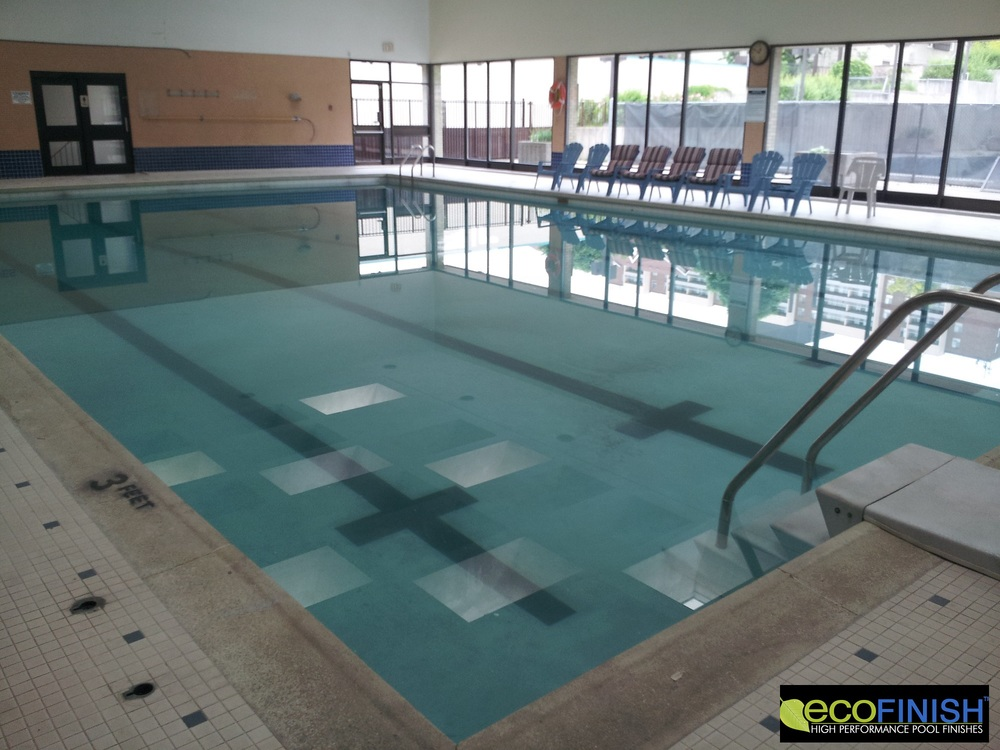 AFTER PHOTO showing completed Commercial Pool Renovation