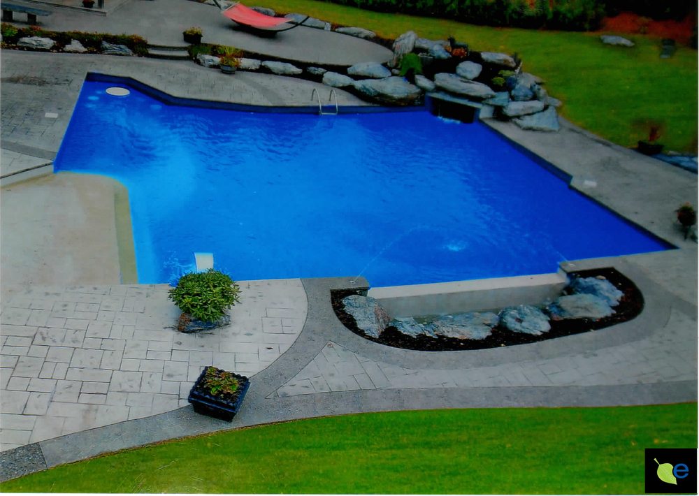photo courtesy Poseidon pools longueil Quebec.    Finished     - Fill the pool, add chemicals, and enjoy