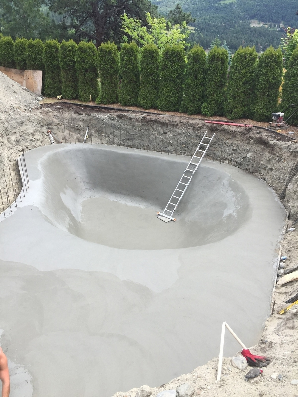 New Build Concrete Swimming Pool