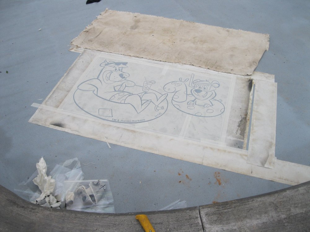 yogi bear and boo boo stencil canada pool coating.jpg