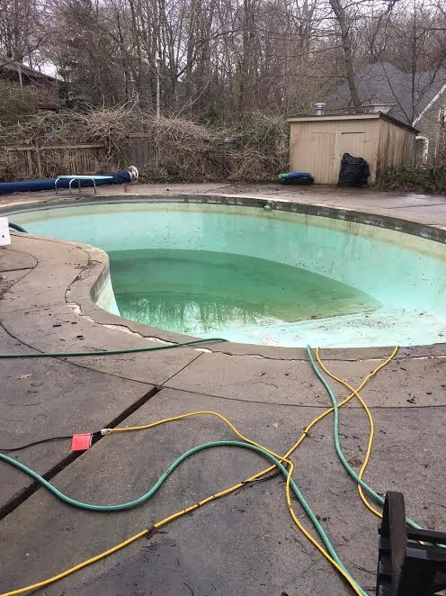 concrete pool and deck before ecoFinish