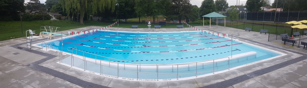 Crestview Outdoor Public Pool ecoFinish installation by Ottawa Pool Works