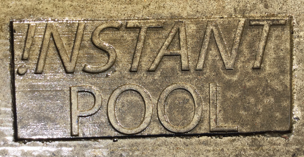 Look for this sign of quality !nstant pool or contact Canada pool coating 613.623.5903