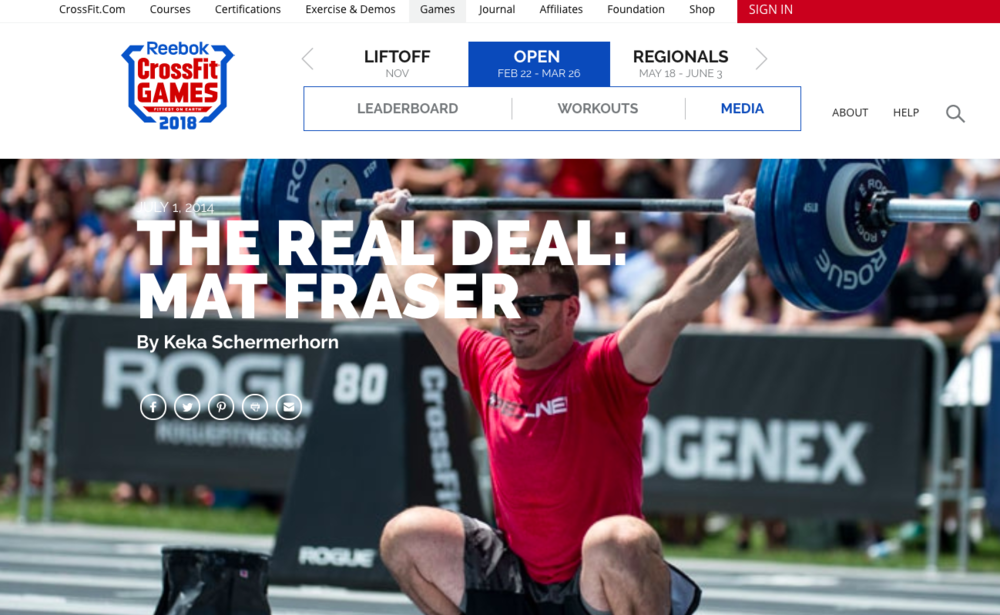 FITNESS                                                                   The CrossFit Games - North East Head Writer