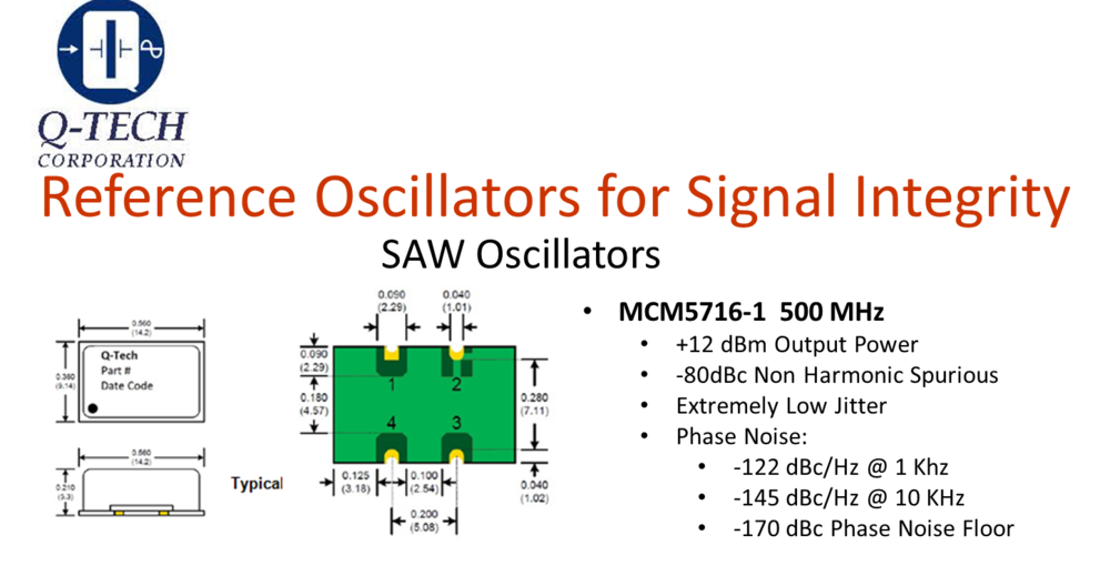 SAW Reference Oscillator