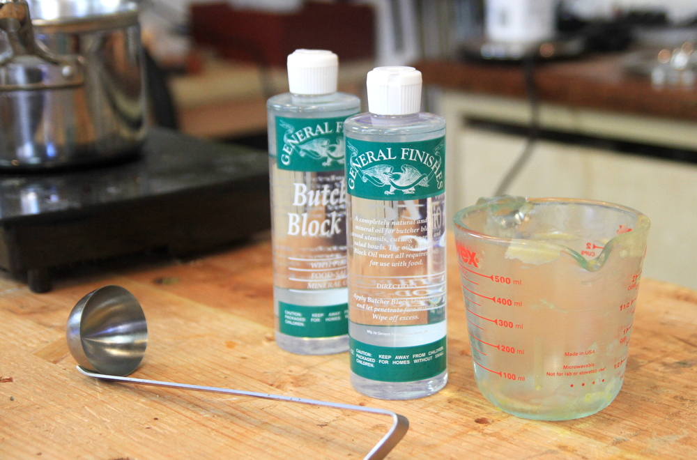 Making mineral oil wax darbin orvar for Homemade furniture polish mineral oil