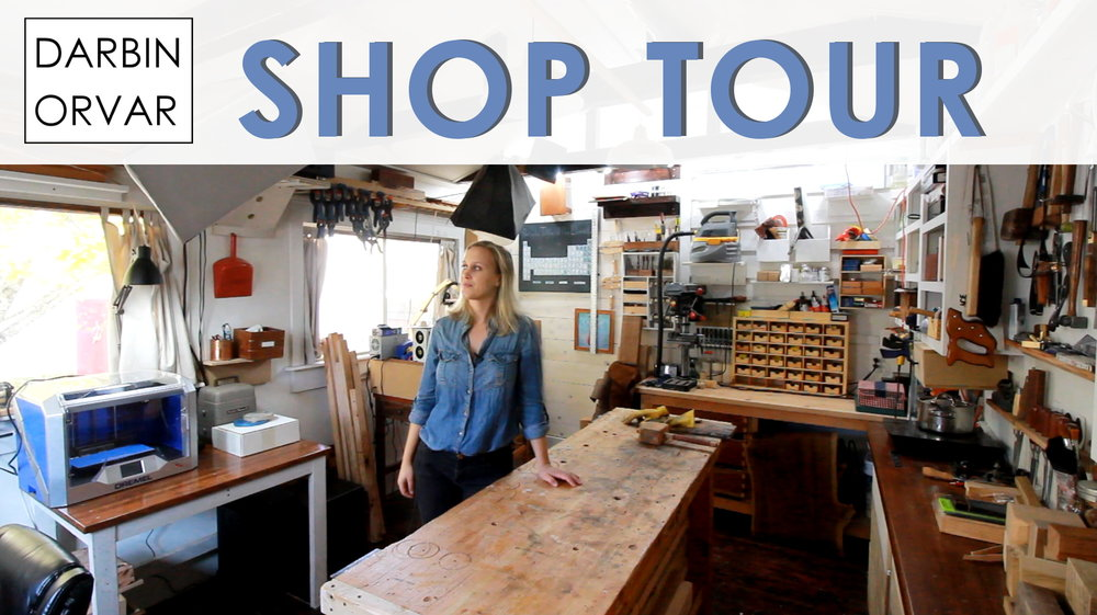 Here's a tour of my shop - both the main shop outdoors where I have my power tools & my indoor shop.