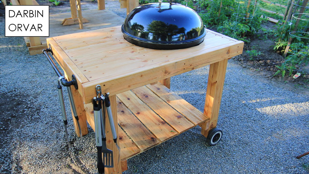 diy weber grill cart bbq station darbin orvar