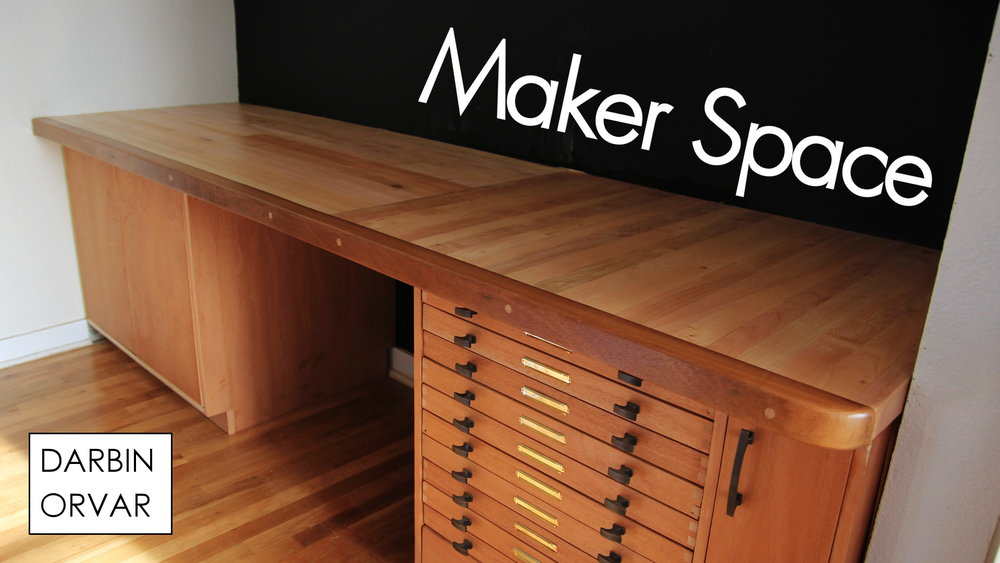 Making A Workbench Desk For The Makerspace From Rough Lumber