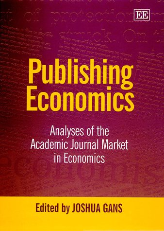 Publishing Economics - A collection of famous articles analysing the academic journal market in economics.