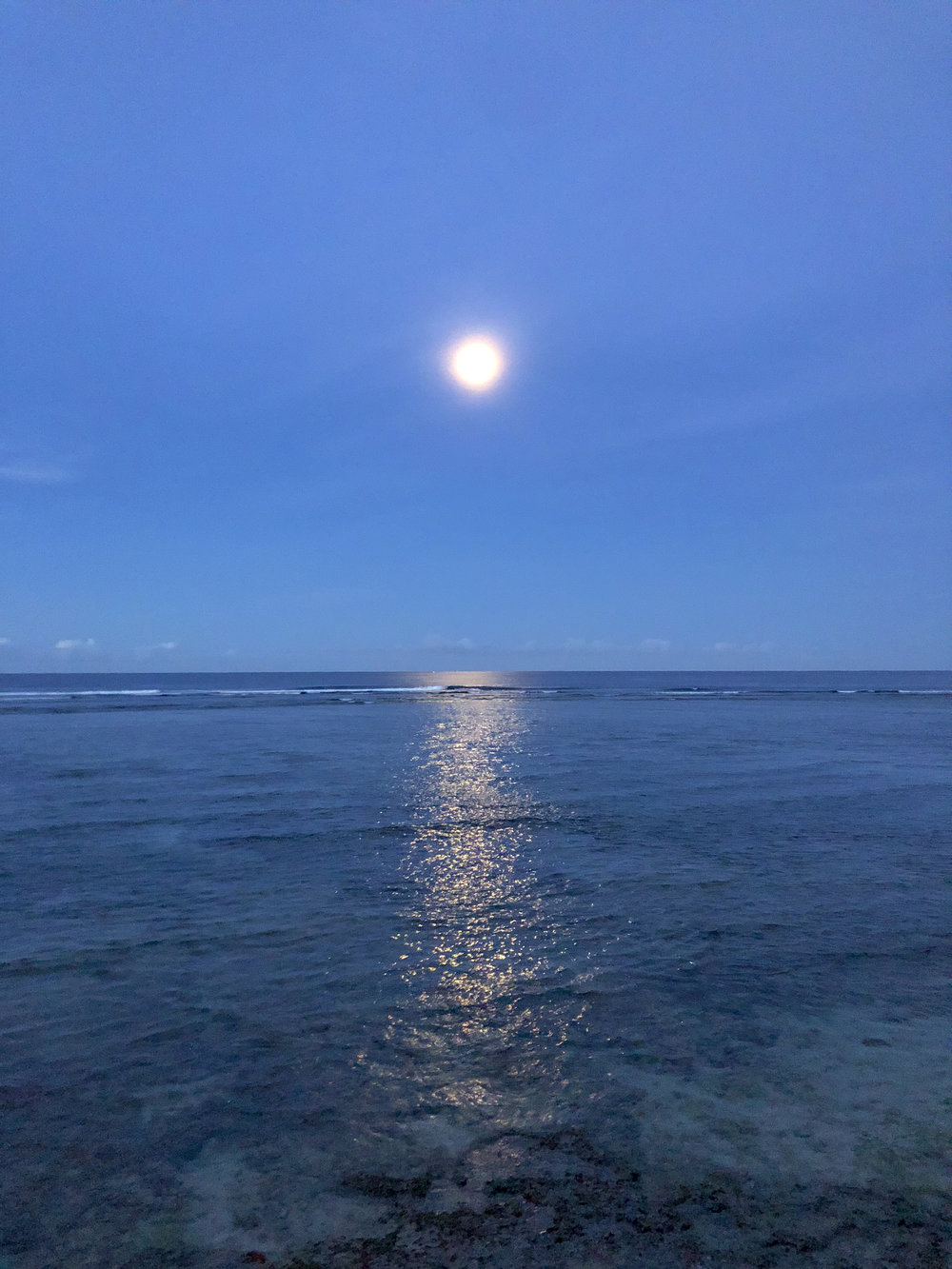 Sumatra moon set
