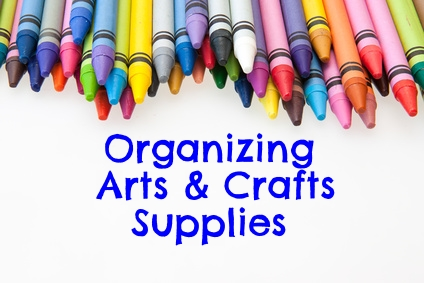 Organizing Arts and Crafts Supplies by Encourage Play
