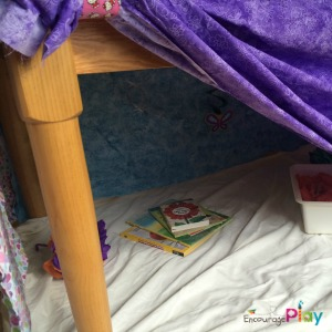 Under the table fort by Encourage Play