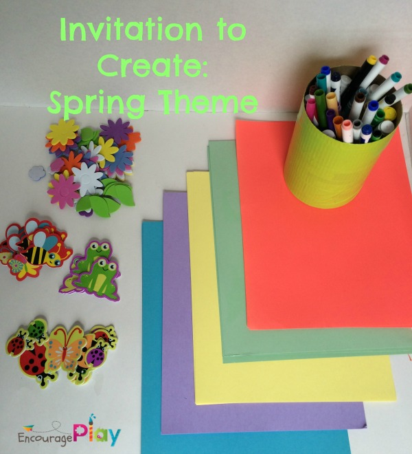 Invitation to create spring theme Encourage Play