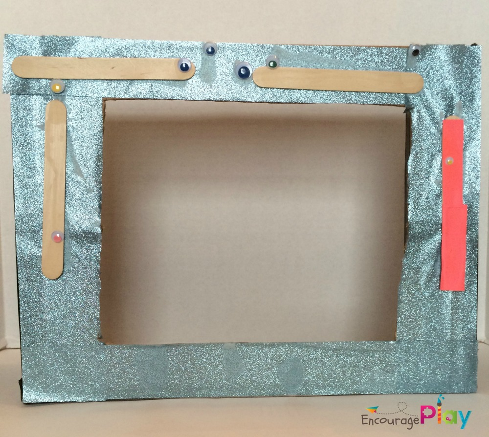 Cardboard Box Puppet Theatre Encourage Play