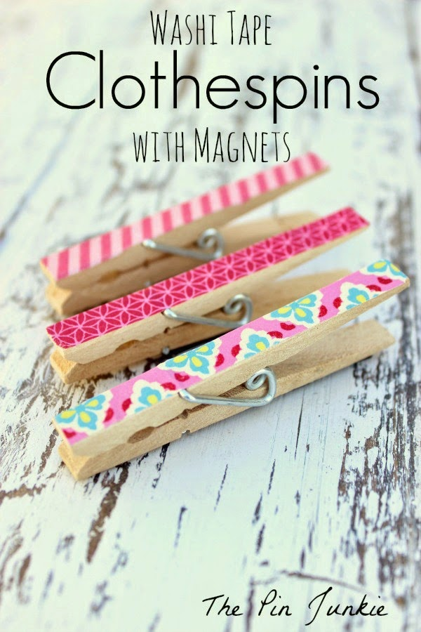 The Pin Junkie Washi Tape Clothespins with Magnets