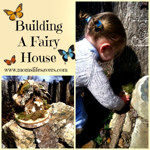 Building a Fairy House from Moms Lifesavers