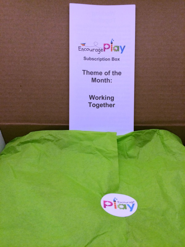 Encourage Play June Subscription Box Play Date kit Working Together