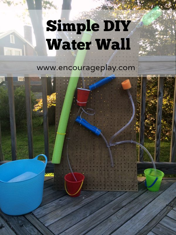 Simple and Easy DIY Water Wall from Encourage Play