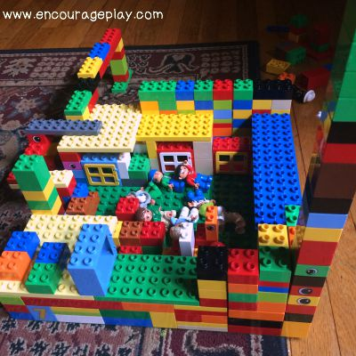 duplo castle created by both children.jpg