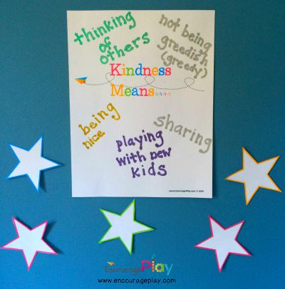 Kindness Wall with Free Printable from Encourage Play