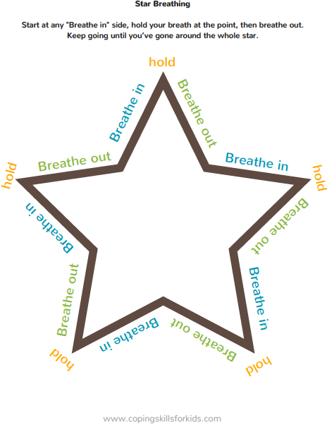 Star Breathing Encourage Play Coping Skills for Kids