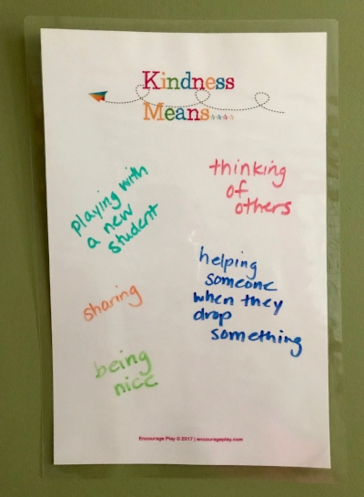 Encourage Play Kindness Wall In Action