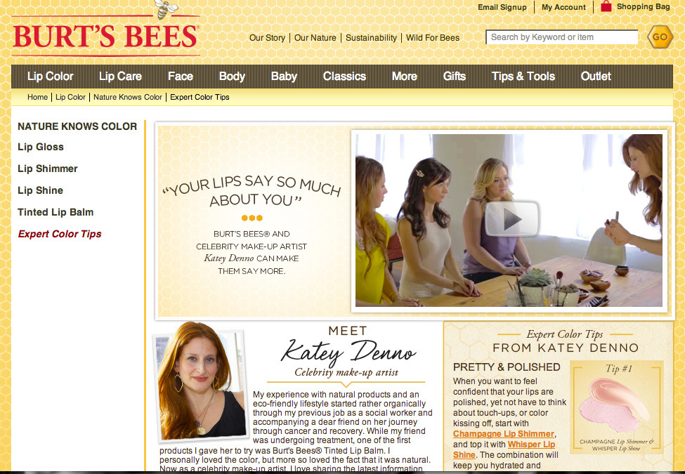 Burt's Bees: Celebrity Make-Up Artist Katey Denno