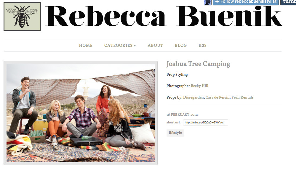 Rebecca Buenik: Joshua Tree Camping Photoshoot