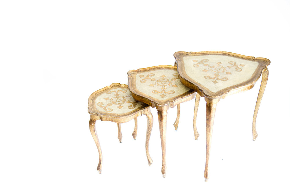 (T-031) Florentine Nesting Tables