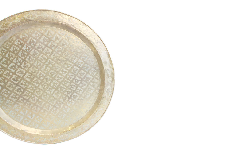 (PL-058) OVERSIZED MOROCCAN TRAY