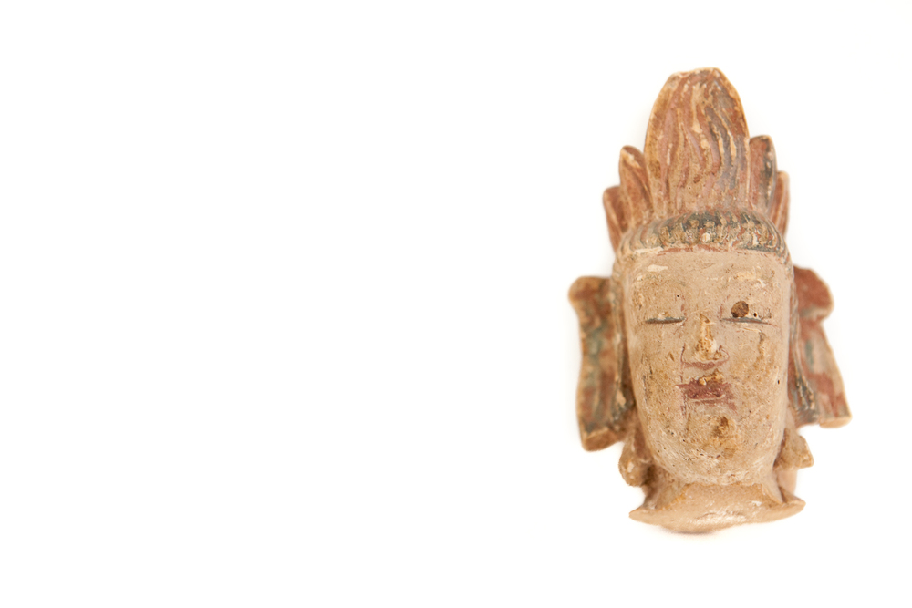 (PS-173) HEAD OF THE BUDDHA
