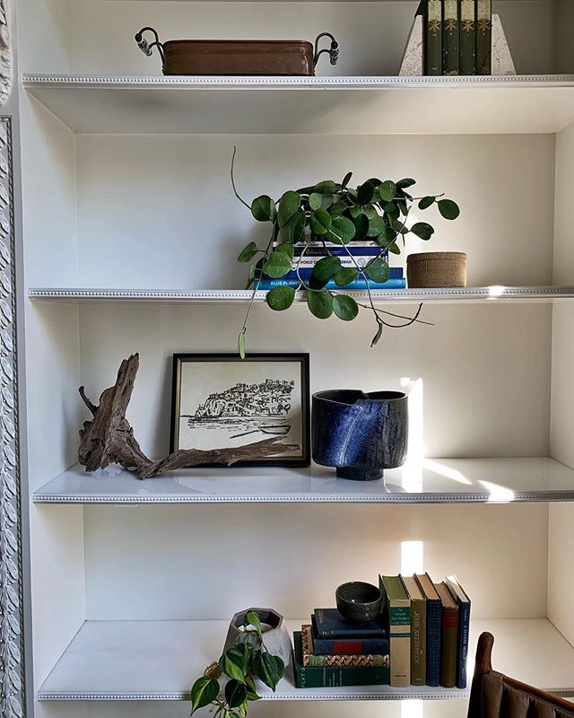 Styling shelves and finalizing details with this project.