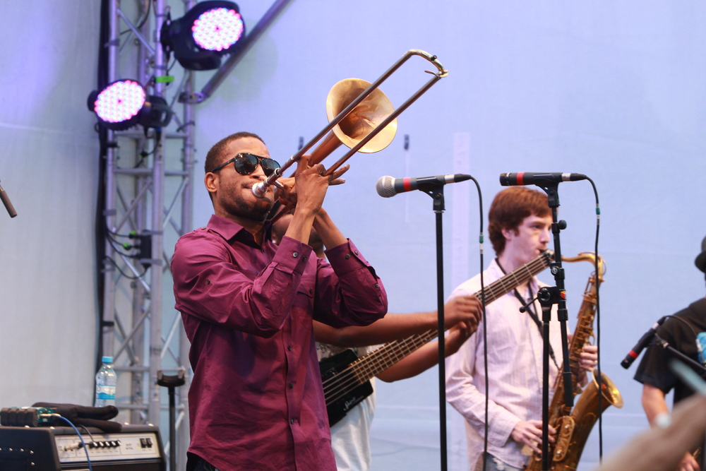 Trombone Shorty in seinem Element (© public adress)