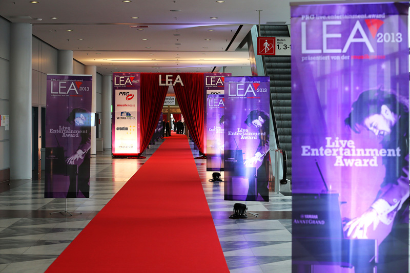 Live Entertainment Award 2013 - Red Carpet - Frankfurt ( @ public address)