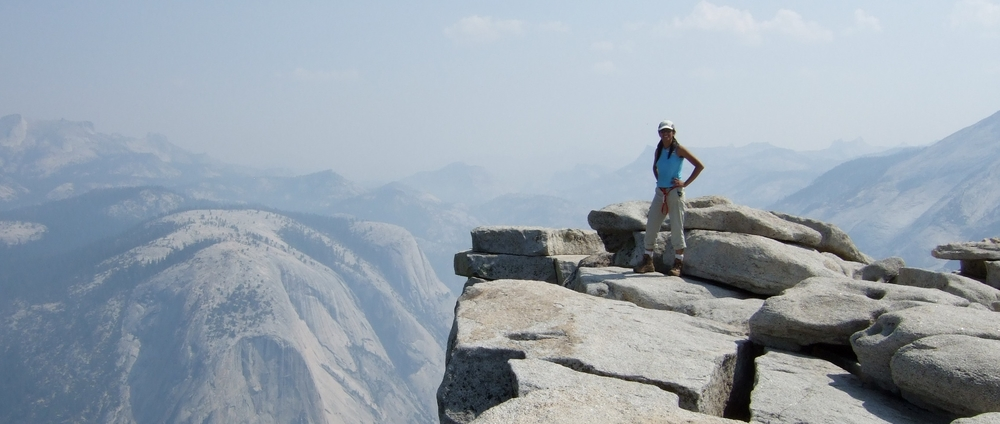 On top of Half Dome, Yosemite National Park, CA.  Photo by Genevieve Breed, 2006
