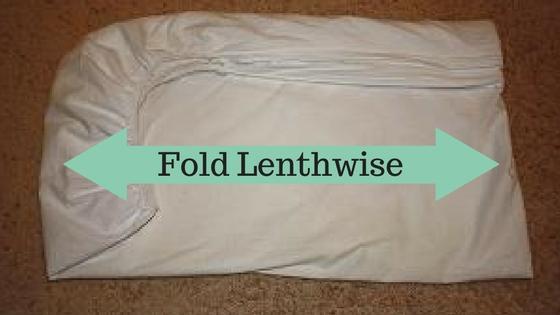 fold the sheet lengthwise