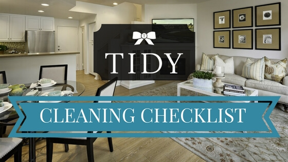 TIDY Cleaning Checklist