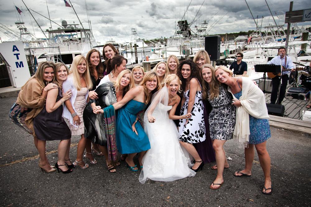 wedding reception group portrait