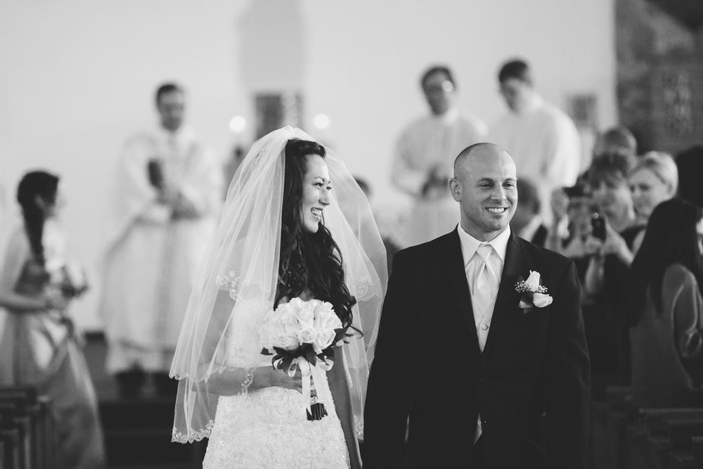 wedding ceremony bride and groom recessional exit