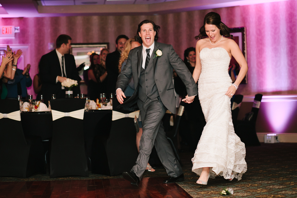 wedding reception entrance shot, sterling ballroom, eatontown, nj