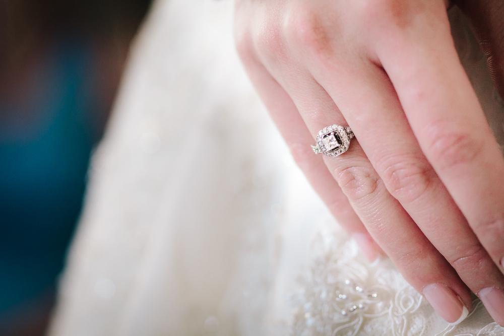 wedding engagement ring macro close up